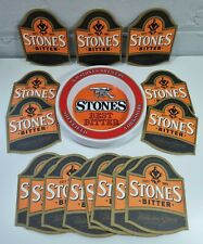 More details for vintage stones brewery ashtray & 15 beer mats - melamine yorkshire bitter pub