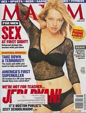 MAXIM Magazine #54 JUNE 2002-A - Jeri Ryan Malia Jones Alana De La Garza !!!