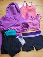 Lululemon lot of 6 Size 6 Tank Tops, Long Sleeve Shirt, Crops and Shorts