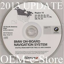 1997 to 2002 BMW 7 5 3 Series M3 M5 X5 Navigation CD Map #10 Cover Canada Only
