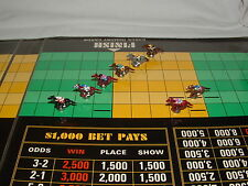 CUSTOM HORSE RACING 8 TOKEN PIECE LOT FOR VINTAGE APBA AMERICAN SADDLE GAME
