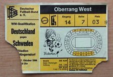 Tickets Germany - Sweden 1984