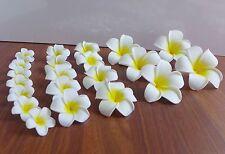 Set of 25 Pieces Artificial Foam Yellow Plumeria Flowers