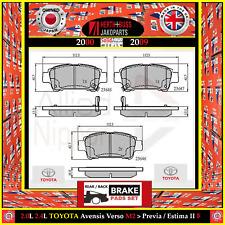 Rear Brake Pad Set for 2.0L 2.4L TOYOTA Avensis Verso M2 > Previa / Estima II R3