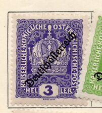 Austria 1918 Early Issue Fine Mint Hinged 3h. Optd 240494