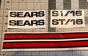 Sears Suburban decals set ST/16 Black Single Red Stripe 6 In Set