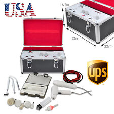 USA 5in1 High Frequency Galvanic Facial Brush Vacuum Spray Beauty Machine + CASE