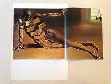 "1976 Vintage SALVADOR DALI ""ANTHROPOMORPHIC CABINET"" COLOR Art Print Lithograph"
