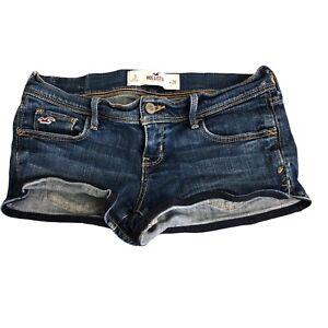 Hollister Juniors Womens Denim Short Jean Shorts Social Stretch size 3 26W