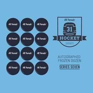 ST LOUIS BLUES HitParade Autographed FROZEN DOZEN Hockey Puck 12box Break