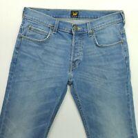 LEE POWELL Mens  Jeans W30 L31 Blue Slim Straight