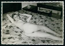 Pinup pin up nude woman amateur model original old 1950s gelatin silver photo bb