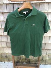 Lacoste Men's Short Sleeve Casual Golf Polo Shirt Deep Hunter Green Size Medium