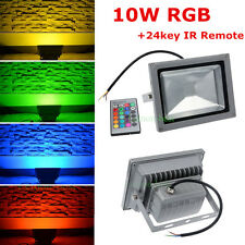 10W LED RGB Outdoor Xmas Flood Wash Light Lamp Bulb & Remote Control AC85-265V