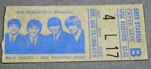 Beatles-Shea Stadium Concert Ticket Stub-Aug 15, 1965