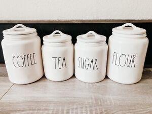 Rae Dunn COFFEE, SUGAR, TEA & FLOUR Canister Set Of 4 BY Magenta