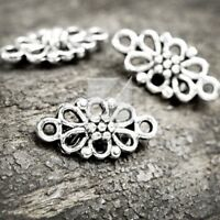 10pcs Pendants Charm Antique Tibetan Silver Craft Cross 56.5x37x1.5mm IW