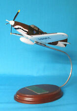 WWII P-39 AIR COBRA WOODEN MODEL AIRPLANE WITH STAND INTRICATE DETAIL HELL-BELLS