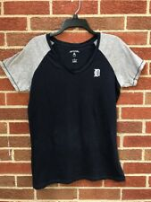 Detroit Tigers Antigua Blue LEYLAND T-Shirt - Signed Jim Leyland Women's Size L