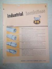 Vtg Keasbey&Mattison Co Catalog~Asbestos~Air Cell Pipe Insulation~K&M