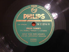 """DOLF VAN DER LINDEN & ORCH """"Indian Summer""""/""""Holiday In Hollywood"""" 78rpm 10"""" NM+"""