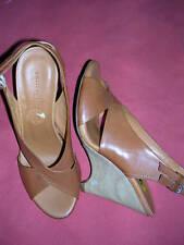 Latitude Femme Luggage Brown Wedge Sandal 39 / 8M New