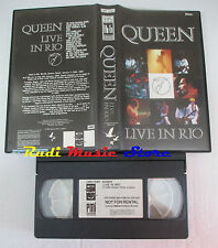 VHS QUEEN Live in rio 1985 CMV 1080 60 MINUTI freddie mercury may cd mc dvd(VM5)