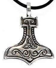 Thor Martillo de Thor Colgante Peltre Cuero Collar