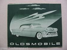 1954 Oldsmobile Broadsheet Brochure