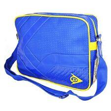 Bolso estilo mensajero Vuelo Dunlop Retro-Azul/Amarillo Bonito Diseño