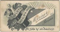 Morixet French Champagne from Reims Victorian Business Card France Wine