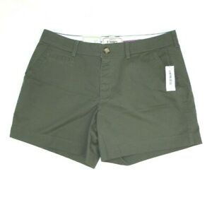 "Old Navy Women's Size 10 Shorts Perfect 5"" Shorts Olive Green Khakis NEW W/ TAGS"