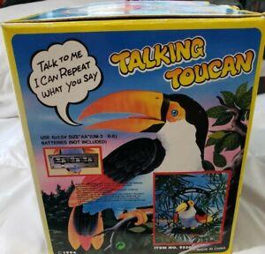 Talking Toucan Electronic Toy Talk & I repeat what you say 1994 NIB SMOKE FREE