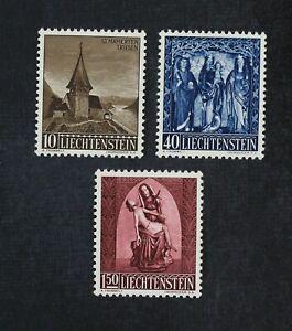 CKStamps: Liechtenstein Stamps Collection Scott#317-319 Mint NH OG #319 Crease