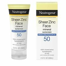 Neutrogena Sheer Zinc Oxide Dry-Touch Mineral Face Sunscreen Lotion, 2oz with...