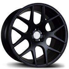 Avid.1 AV30 17X8 5x100 +35 Black Rims Fits Jetta Matrix Corolla Frs