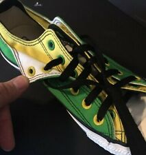 Converse All Star Green Yellow Double Tongue Double Canvas Stars Men 7 Women 9