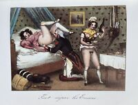 Militär Army Uniform Akt Penis Vagina Art Antique Love Champagne Sex Breast 1830