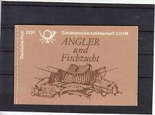 DDR (MH) Markenheftchen 9, Angler/Fischzucht,118 x 76, 14 Nähstiche, postfrisch