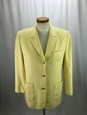 Escada Sport Wool Angora Blend Yellow Blazer 8