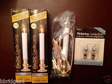 Set of 2 Darice Electric Candle Lamps with Auto Timer & FREE Flame Bulbs  - NIB