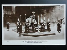 His Late Beloved Majesty King George V. Lying in State at Westminster Hall RP