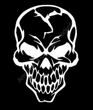 Skull Cracked Head Human Vinyl Decal Sticker Car Truck Window