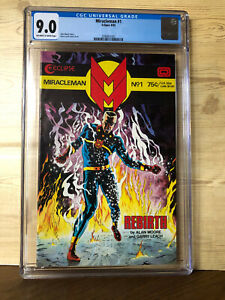 Miracleman #1 (Aug 1985, Eclipse) CGC 9.0 Alan Moore story Gary Leach Cover&Art