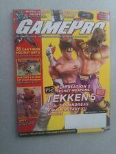 **NICE w/POSTER ATTACHED!!! Gamepro Magazine # 195 December 2004 Tekken 5
