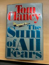 1991 1ST USA EDITION TOM CLANCY THE SUM OF ALL FEARS FICTION HARDBACK BOOK (P7)