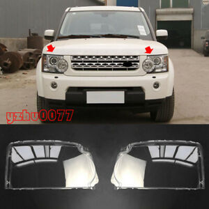 For Land Rover Discovery 4 LR4 2010-2013 Left & Right Front Headlamp Lens Cover