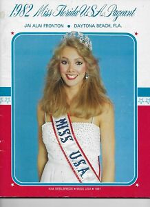 1982 Miss Florida USA Pageant Official Program Book