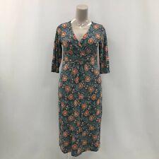Seasalt Cornwall Dress Women's UK 14 Jersey 'The Lake Dress' Blue Orange 331373