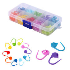 100pcs Locking Stitch Markers-Plastic Lock Ring - Assorted Colors - No Container
